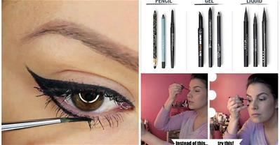 12 mẹo cực hay cho người mới bắt đầu học vẽ eyeliner