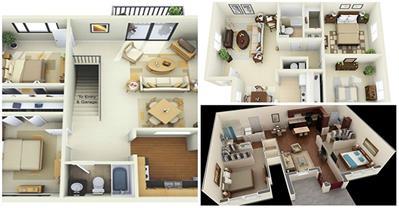 15 mẫu nhà 2 phòng ngủ đẹp khiến vạn người mê