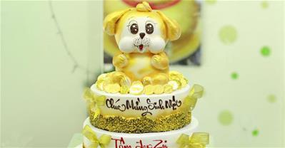 25+ mẫu bánh kem hình con chó đẹp tặng sinh nhật người tuổi Tuất
