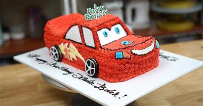 25+ mẫu bánh sinh nhật hình ô tô, xe cảnh sát, cứu hỏa đẹp mắt cho bé trai