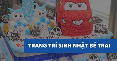 7 Mẫu trang trí sinh nhật cho bé trai tại nhà với xe ô tô Cool Ngầu