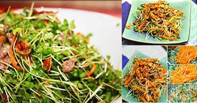 Bật mí cách làm salad rau mầm giúp đẹp dáng, sáng da