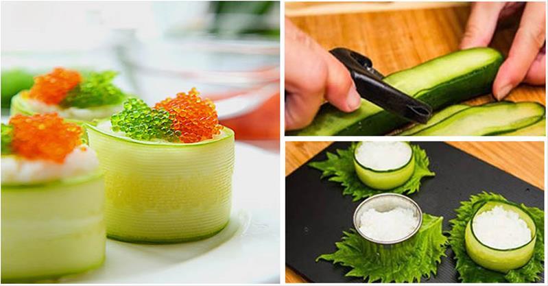 Bật mí cách làm sushi dưa leo chỉ vài phút là xong
