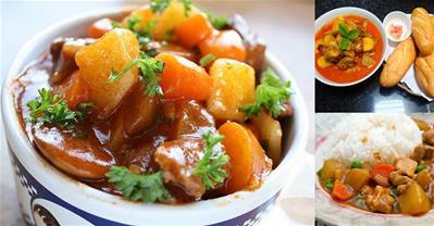 Bí quyết nấu món Cà ri gà ngon mềm đúng điệu