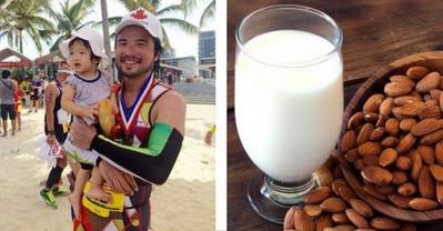 Bố Đỗ Minh và vợ tự nấu sữa cho bé từ các loại hạt