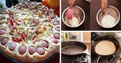 Cách làm bánh Pizza bằng chảo chống dính chỉ mất 15p