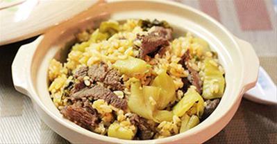 Cách làm cơm rang dưa bò đơn giản cho bữa sáng