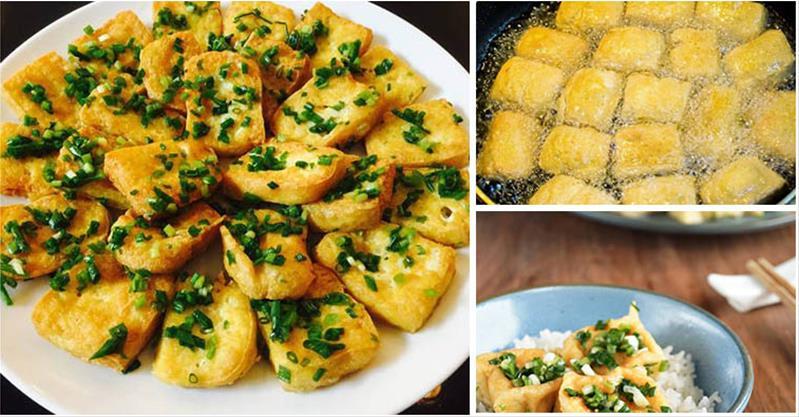Cách làm đậu phụ rán tẩm hành ngon bổ rẻ, ăn là ghiền