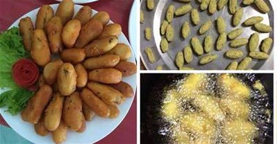 Cách làm khoai lang kén, khoai lang chip lắc giòn ngon