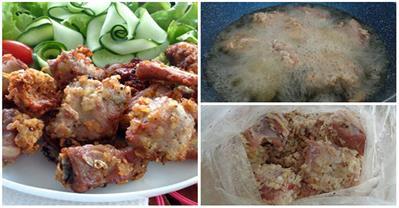 Cách làm món sườn chiên tỏi kiểu Thái thơm ngon