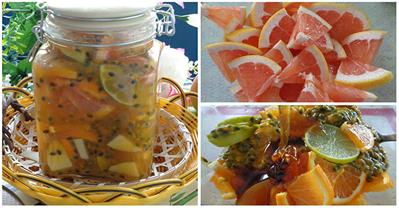 Cách làm nước trái cây ngâm mật ong chữa ho, chống cảm
