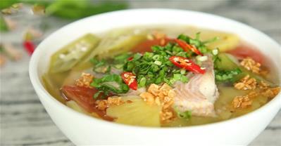 Cách nấu canh chua cá diêu hồng dọc mùng thanh mát đơn giản