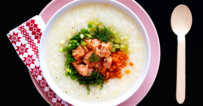 Cách nấu cháo cá hồi THƠM NGON, BỔ DƯỠNG, KHÔNG TANH cho bé yêu