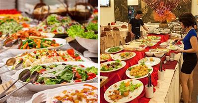 Đang giảm cân, hãy cẩn thận với salad trong tiệc buffet