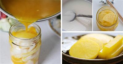 Đổi món với củ cải muối kiểu Nhật vàng ươm giòn sần sật