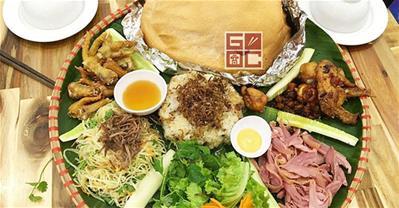 Góc Hà Nội – Thưởng thức đủ món gà ngon bày trên mẹt lá