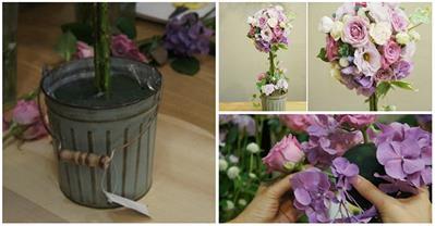 Học cách cắm hoa kiểu mới cực chất trang trí ngày Tết