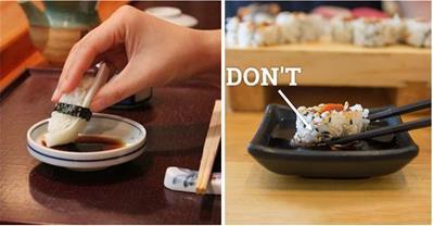 Hướng dẫn ăn sushi đúng chuẩn điệu không phải cũng biết