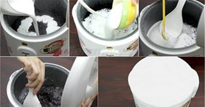 Hướng dẫn làm sữa chua nếp cẩm chỉ bằng nồi cơm điện