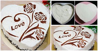Làm bánh gato trái tim làm quà cho chàng ngày Valentine