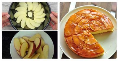 Làm bánh táo úp ngược bằng nồi cơm điện trong tích tắc