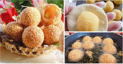 Mách bạn cách làm bánh rán nhân sầu riêng ăn là ghiền