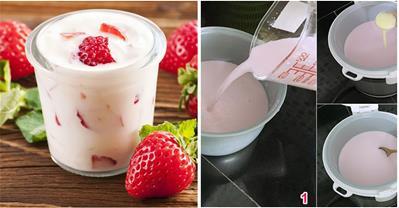 Mách bạn cách làm sữa chua uống bằng nồi cơm điện