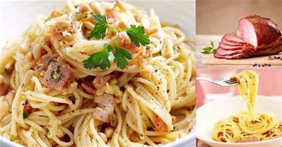 Mỳ Ý sốt phô mai thịt xông khói – món ngon khó cưỡng
