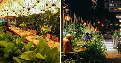 Những nhà hàng có không gian xanh độc nhất Sài Gòn