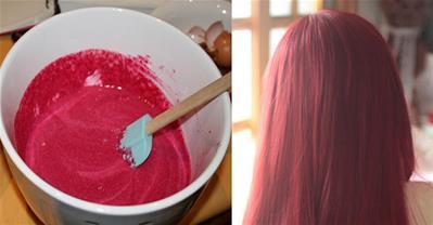 Nhuộm tóc đỏ chỉ với củ dền không lo hóa chất, hại tóc