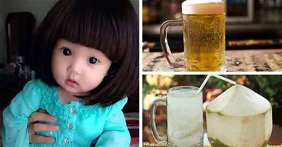 Tắm cho trẻ sơ sinh bằng nước dừa và bia có đáng tin