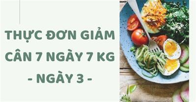 Thực đơn giảm cân trong 7 ngày rẻ, không đói, giảm 7kg - Ngày 3