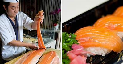 Tôi tận mắt chứng kiến cách làm sushi cá hồi đúng chuẩn