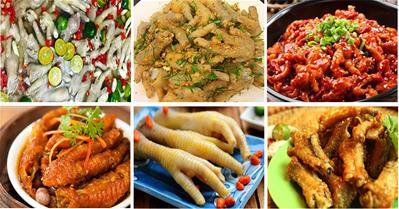 Tổng hợp 17 cách chế biến các món chân gà