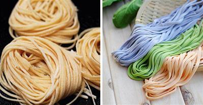 Tổng hợp các cách làm mì sợi tươi nhiều màu đơn giản