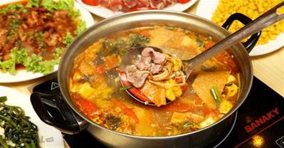 Tổng hợp các địa chỉ ăn LẨU RIÊU CUA ĐỒNG bắp bò ngon nhất Hà Nội