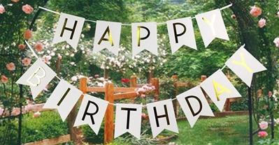 Trang trí chữ Happy Birthday - Phụ kiện sinh nhật rẻ mà bắt mắt