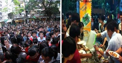 Xấu hổ khi người Việt giành nhau ăn ở nhà hàng buffet
