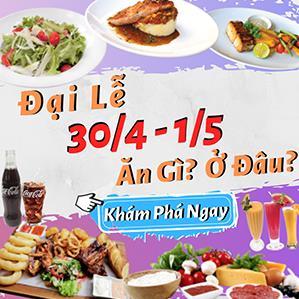 Nhà hàng đặt tiệc 30/4 - 1/5 ởTp.HCM