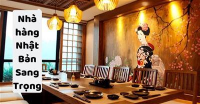 Nhà hàng GỌI MÓN NHẬT sang trọng phù hợp đặt tiệc tiếp khách