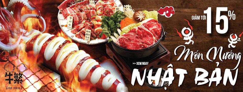 Gyu Shige Ngưu Phồn - Món nướng Nhật Bản