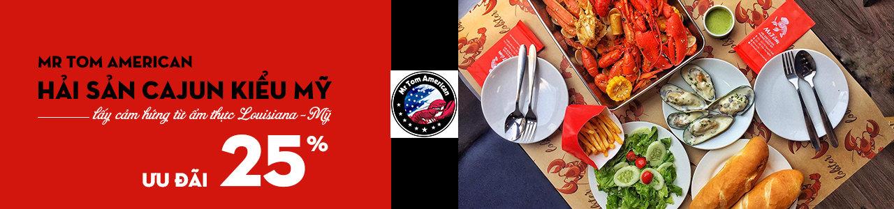 Mr Tom American - Hải sản Cajun kiểu Mỹ