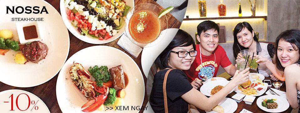 Nossa Steakhouse - Không gian ẩm thực âm hưởng Châu Âu lãng mạn